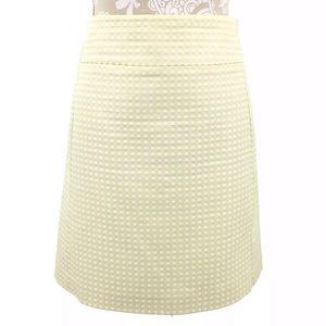 Loft Polka Dot Skirt Yellow Cream